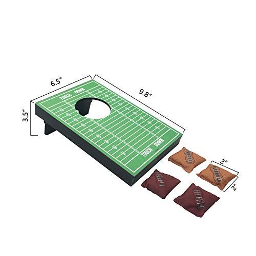 SPORT BEATS Mini Portable Cornhole Tabletop Game with 4 Bean Bags(2