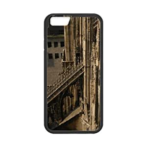 cathedral architecture Case Cover For Apple Iphone 6 Plus 5.5 Inch Cute For GirlS Case Cover For Apple Iphone 6 Plus 5.5 Inch For Women [Black]