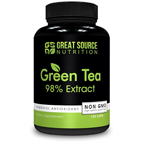 Green Tea Extract Supplement EGCG for Healthy Weight Loss by Great Source Nutrition – Natural Fat Burner, Boosts Metabolism, Promotes Healthy Heart, Antioxidant, Caffeine Source, Non-GMO, 500mg