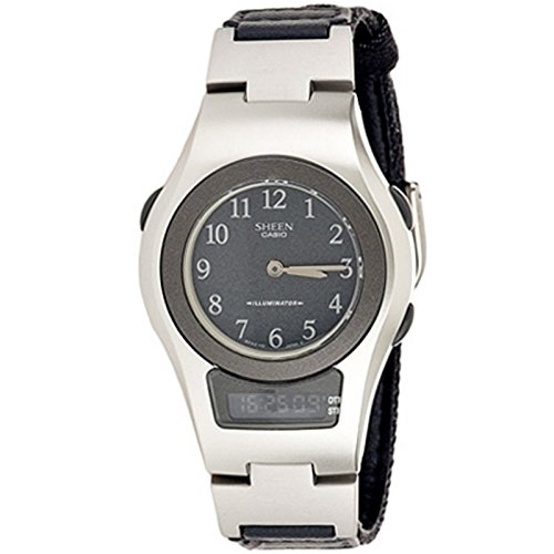 CASIO 19521 SHN-100B-8B - Reloj Señora cuarzo correa textil dial gris: Amazon.es: Relojes