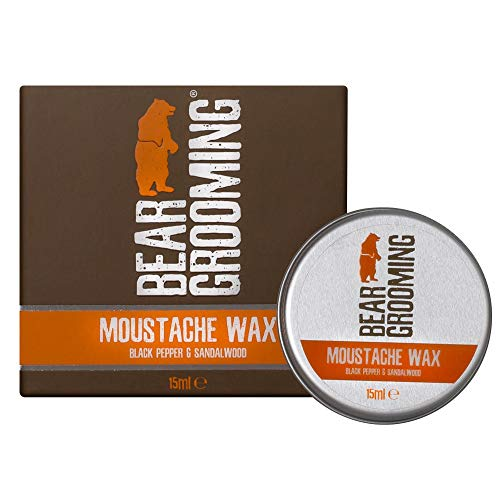 Premium Mustache Wax 15ml – Superb styling and shaping wax holds your beloved mustache firmly in place. Natural ingredients condition and soften your moustache. Black Pepper and Sandalwood scent