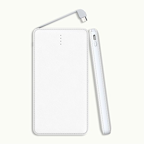 Ultra Thin Portable 10000mAh Power Bank   White