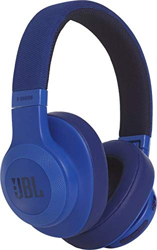 JBL E55BT Over Ear Bluetooth Kopfhörer - Wireless Headphones mit integriertem Headset - Musikgenuss für bis zu 20 Stunden Blau
