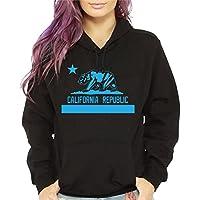 CaliDesign Women's Baby Blue California Republic hoodie Light Carolina Blue Cali