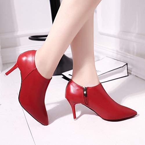a junkai bottes à talons talons talons courts chaussures bottes automne hiver court martin bottes et bottes de nus.trente quatre b07hd9qpv9 parent 8a16f5