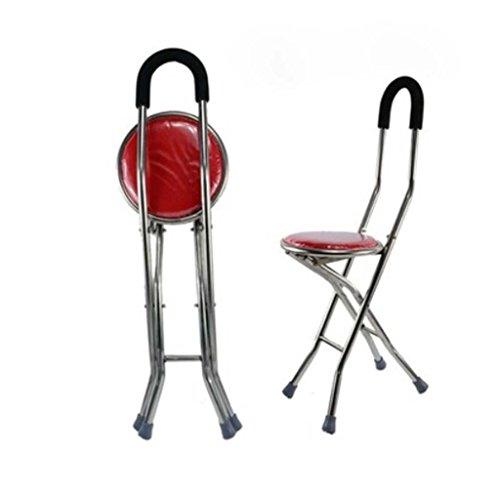 Binglinghua Adjustable Folding Walking Cane Chair Stool