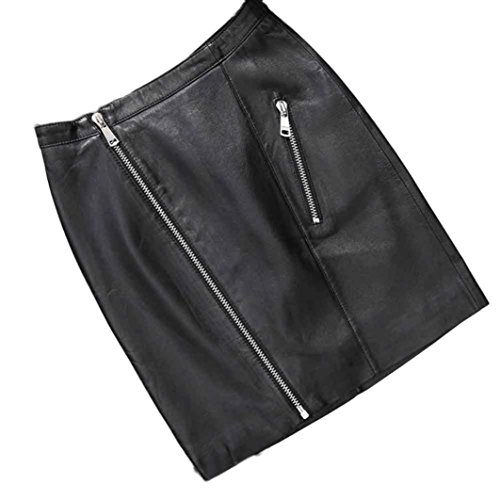 ADESHOP Femmes De SoiréE Courte Faux Cuir Taille HauteFermeture Eclair Jupe Skater Flared En Cuir Courtes Skater EvaséE PlisséE Skinny Tight Mode Casual En Cuir PU Short Mini Skirt