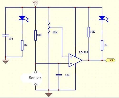 HiLetgo 5pcs Digital Light Intensity Photosensitive Sensor Module 3.5V-5V Light Photo Resistor Sensors for Arduino
