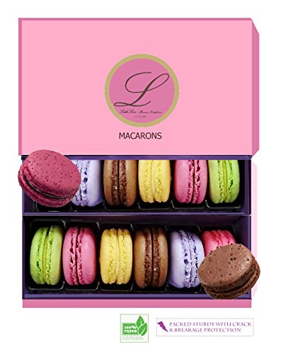 Leilalove Macarons 12 French Macaron - Baked to order - A French Gift to remember
