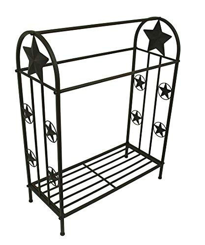 LL Home 21202 Quilt Rack with Stars, One Size, Brown