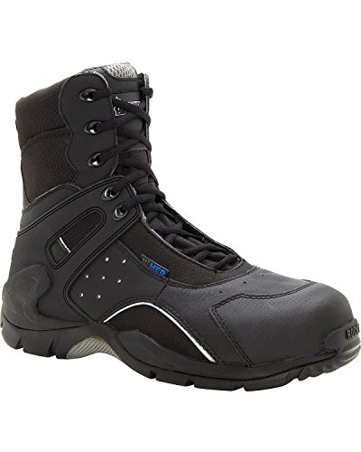 Rocky Men's 8 Inch 1st Med 911-113 Puncture Resistant Work Boot,Black,11 W US (Side Zip Boots Composite Toe)