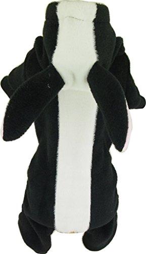Kaver All-In-One Dog Cat Clothes Apparel Skunk 8 X-Large (Black Dog Skunk Costume)