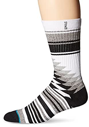 Stance Men's Larieto Classic Crew Socks, Grey, Large/Shoe Size 9-12