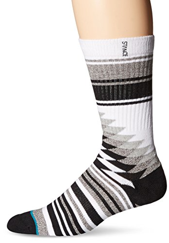 Stance Men's Larieto Classic Crew Socks, Grey, Medium/Shoe Size 6-8.5