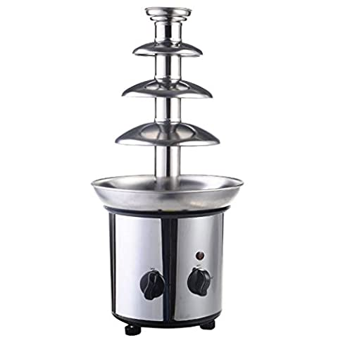 Quality Fondue Fountain - Commercial Luxury Chocolate Fondue Fountain - New 4 Tiers Stainless Steel - Hot Chocolate for - Fount Base