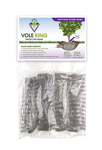 VOLE KING Plant Baskets, 1 Quart, Pack of 4 - Protect Plants, Trees and Flowers from Voles, Gophers, Moles Without Repellent - Protect Landscaping from Mini Burrowing Animals - A One Time Solution