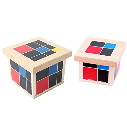 Fityle Wooden Montessori Trinomial & Binomial Cube Set Kids Early Educational Toy from Fityle