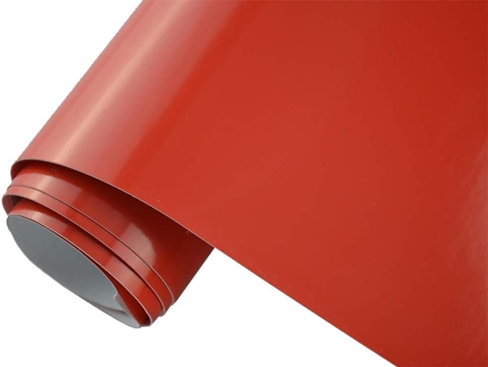 Neoxxim 21 20 M2 Premium Auto Folie GlÄnzend Rot Glanz Rot 50 X 150 Cm Blasenfrei Mit Luftkanälen Ca 0 15mm Dick Folierung Folieren Bekleben Küche Haushalt