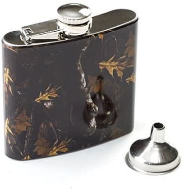 Totes Camouflage Flask w// Shot Glass