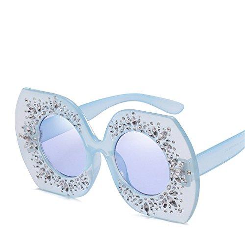 de Diamante de sol de Retro F Gafas F multidifero Gafas RFVBNM Carácter Marco Señora de Gran de Sol Irregular xfFwIgnq4