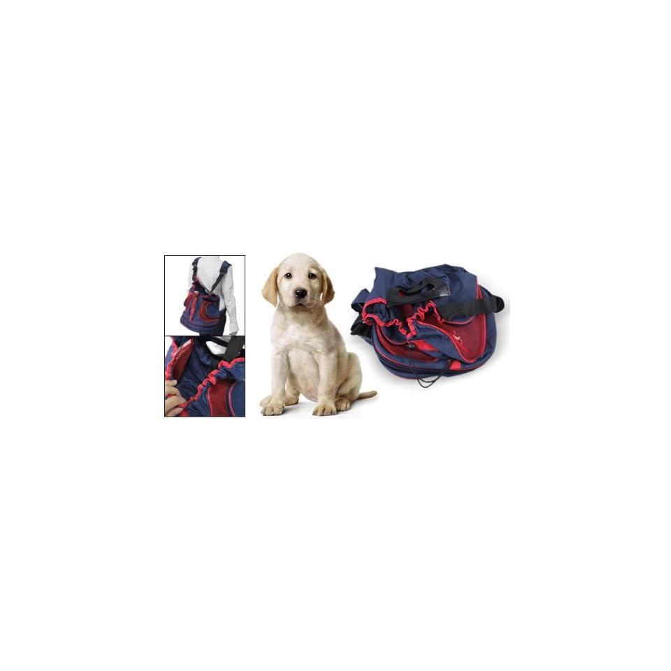 Como Double Shoulder Straps Blue Red Front Pet Dog Carrier