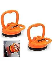 Voarge 2 stuks deuken zuignap trekker verwijderen gereedschap mini glaszuiger zuiglifter glazen lifter kleine zuignap houder auto lichaam deent trekker verwijderen gereedschap 6 cm (oranje)