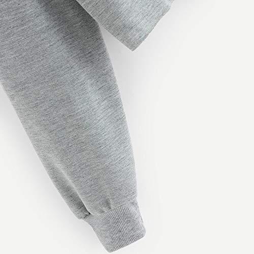 Femme Oreille De Sweatshirts Longues Manches Sweat Sweat shirt Capuche  Sport Chat Poche Pullover Imprimé Gris ... 99025313656