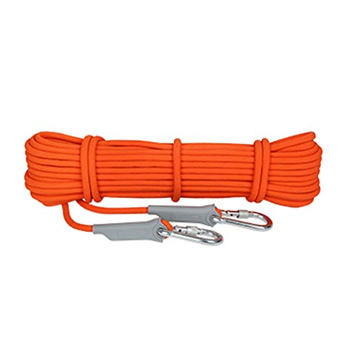 HWXZM Climbing Rope, 100m Outdoor Mountain Ultra Light and Quick Drying Wear-Resistant Safety Rope, Diameter 9.5mm Lifeline Escape Rescue Equipment (Color : Orange, Size : 100m)