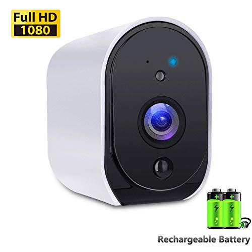 Battery Powered Camera BIZGOOD WiFi IP Camera Home Security System, Night Vision, Indoor/Outdoor Eaves, Compatible with Alexa, 2-Way Audio Talk, Free 32GB Memory Card (Wifi Sd Battery)