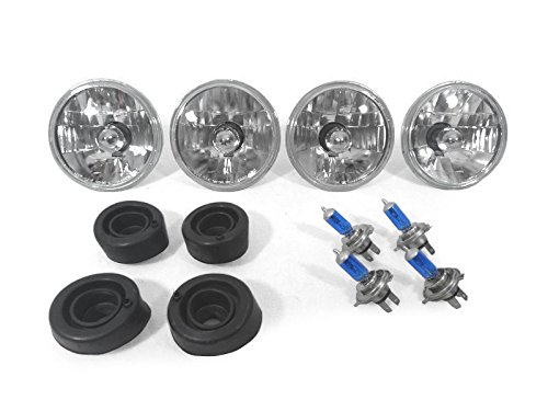 CPW (tm) 74 75 76 CHEVY CAPRICE EURO HEADLIGHTS WITH XENON HID HALOGEN BULBS NEW - 4 Lights