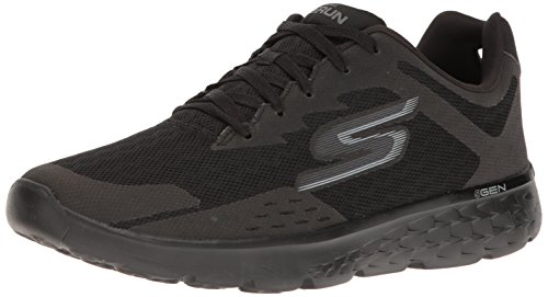Skechers Performance Men's Go Run 400 Disperse Running Shoe, Black Knit/Gray, 10 M US