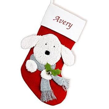 cfe1777e3 Amazon.com  GiftsForYouNow Dog Personalized Christmas Stocking