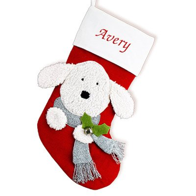 GiftsForYouNow Dog Personalized Christmas Stocking, 19