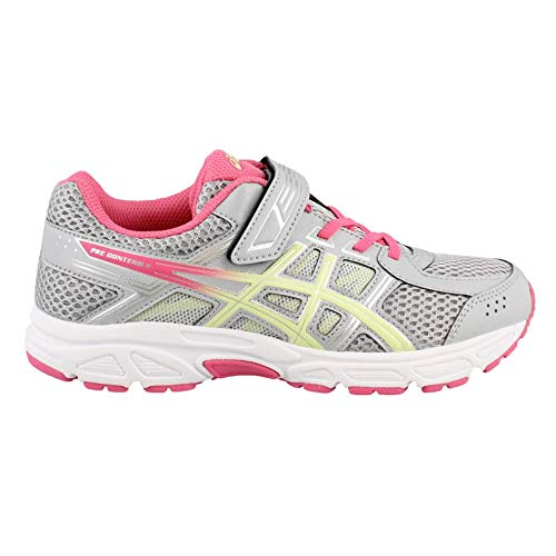 ASICS Kids Baby Girl's Gel-Contend 4 PS (Toddler/Little Kid) Mid Grey/Limelight/Hot Pink 12 M US Little Kid