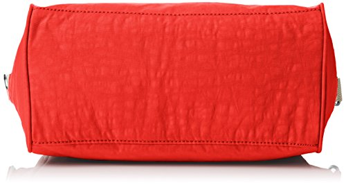 Kipling Amiel, Damen Schultertasche, Rot (Coral Rose Combo 05w)