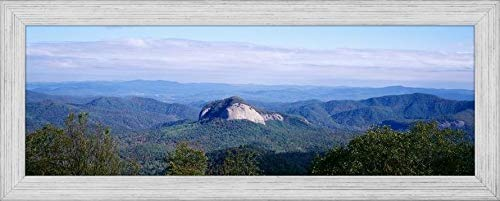 (Easy Art Prints Panoramic Images's 'Looking Glass Rock Blue Ridge Parkway NC USA' Premium Framed Canvas Art - 24