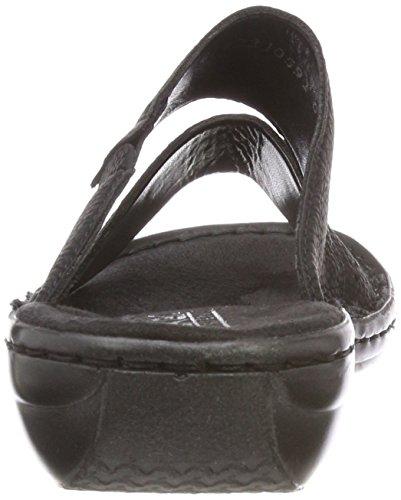 Schwarz Femme Mules Noir 608k8 Rieker Silver Ivxw0HS