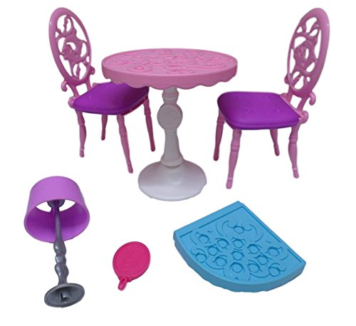 Barbie Malibu Dreamhouse - Replacement Parts Pieces Furniture: Chairs Table Lamp