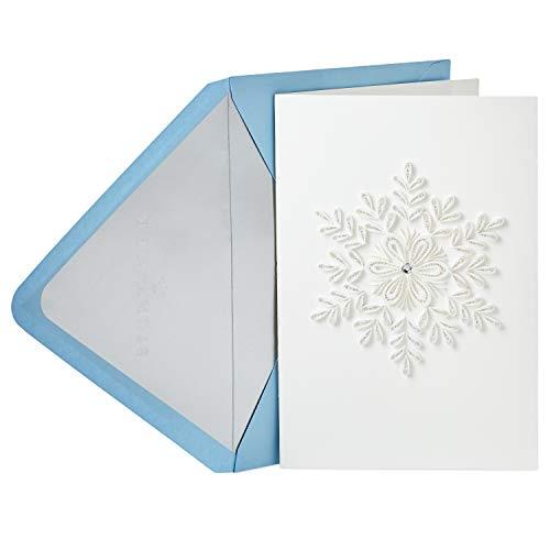Hallmark Signature Christmas Card (Quilling Snowflake) (Snowflake Card)