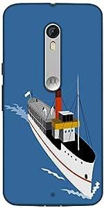 Snoogg Passenger Steamship Boat Designer Protective Back Case Cover For Motor...