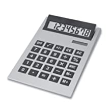 11 Inch Solar and Battery Powered Adjustable Giant Calculator, Silver