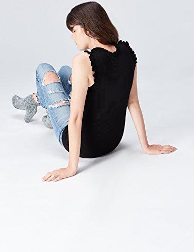 nero senza maniche Top nero donna Trova RqO6T