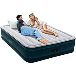 "Intex Dura-Beam Series Elevated Comfort Airbed with Built-in Electric Pump, Bed Height 16"", Queen - Amazon Exclusive"