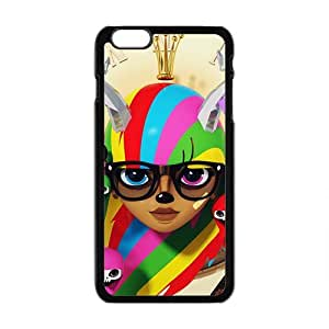 Creative Graffiti Girl Custom Protective Hard Phone Cae For Iphone 6 Plus