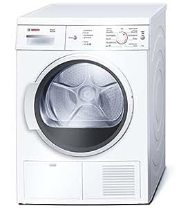 Bosch WTE86111EE - Secadora (Independiente, Frente, Condensación, 8 kg, B, Algodón, Delicado/seda, Rápido, Deporte, Sintético) Color blanco