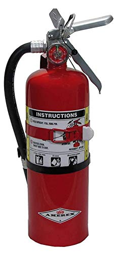 Rechargeable Extinguishers Fire (Amerex B500T ABC Dry Chemical Fire Extinguisher with Aluminum Valve and Vehicle Bracket, 5 lb.)