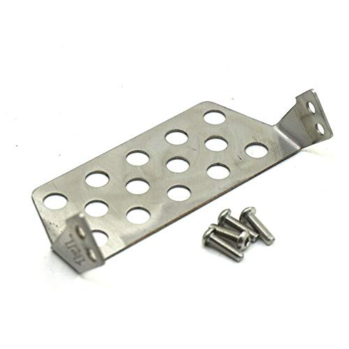 1Pcs Front Rear TRX4 Stainless Steel Chassis Predector Plate for 1 10 RC Crawler Car Traxxas TRX4   Front