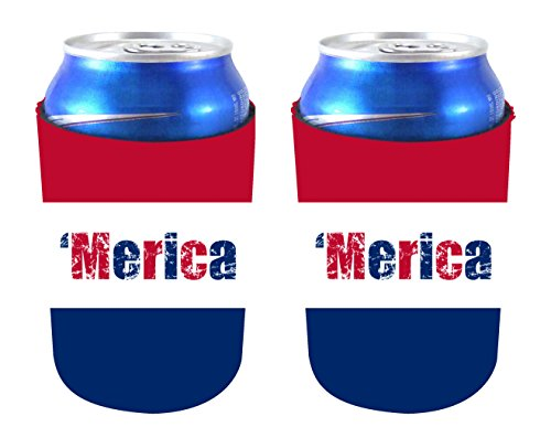 Coolie Junction Merica Colors Can Coolie 2 Pack