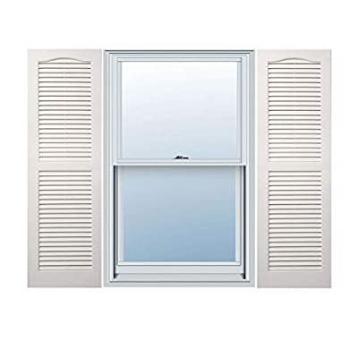 Alpha VNB1531WHOL 14-Inch by 31-Inch Open Louver, White, 2-Pack