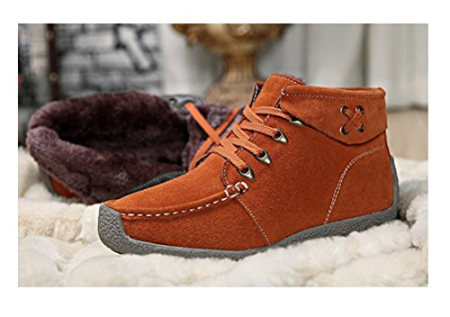 Always Pretty Womens Winter Outdoor Snow Boots Ankle Boot Snow Work Shoes Orange 1WRYazmaM